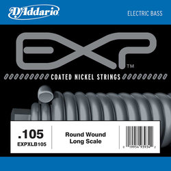 D'Addario EXP Coated Nickel Single Bass Guitar String - Round Wound, 105