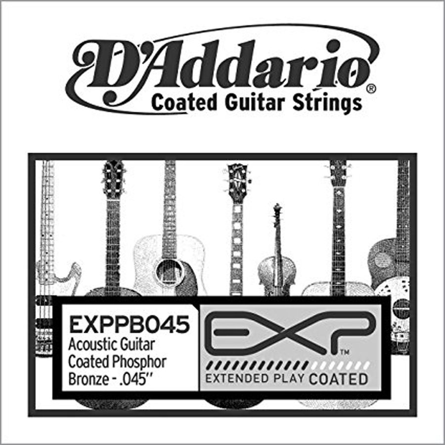 View larger image of D'Addario EXP Coated Phosphor Bronze Single Acoustic Guitar String - 45