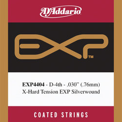 D'Addario EXP Coated Single D Classical Guitar String - Extra Hard, 30