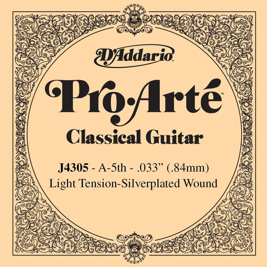 View larger image of D'Addario J4305 Pro-Arte Single Classical Guitar String - A, Light