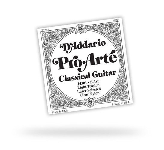 View larger image of D'Addario J4402 Clear Nylon Classical Guitar Single String - Extra-Hard Tension B' or 2nd