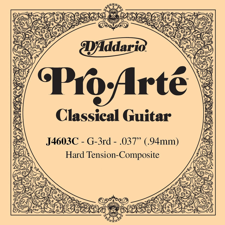 View larger image of D'Addario J4603 Pro-Arte Composite Single Classical Guitar String - G, Hard