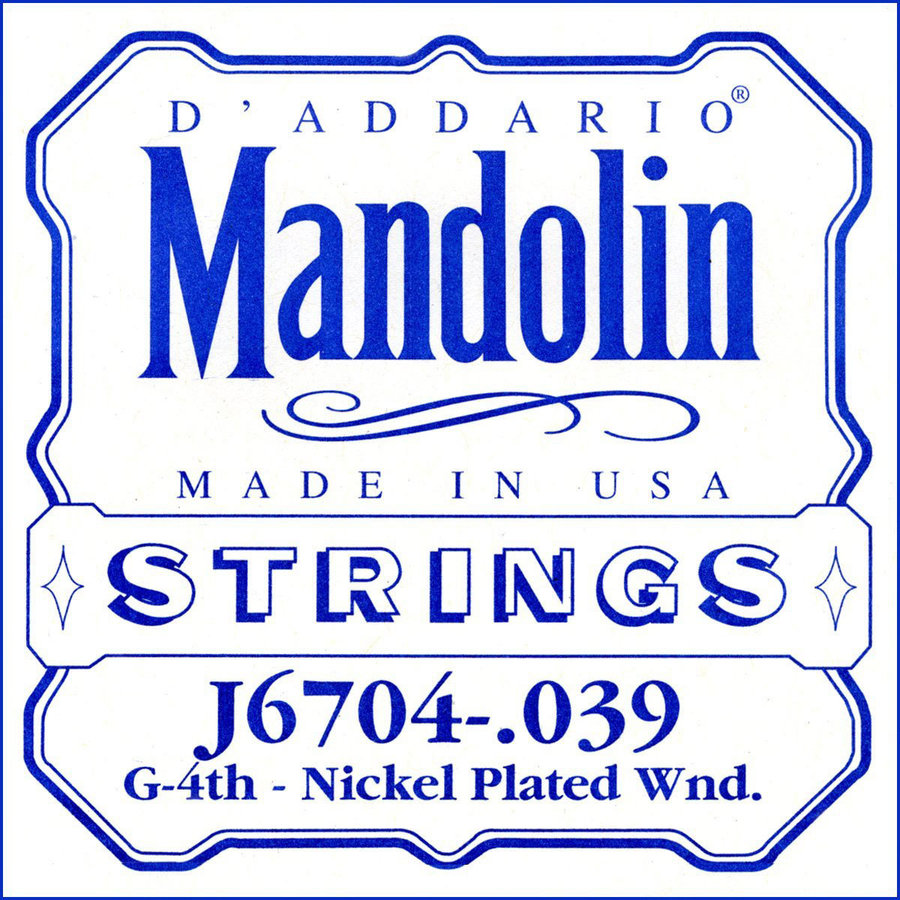 View larger image of D'Addario J6704 Nickel Wound Mandolin Single String - G' or 4th