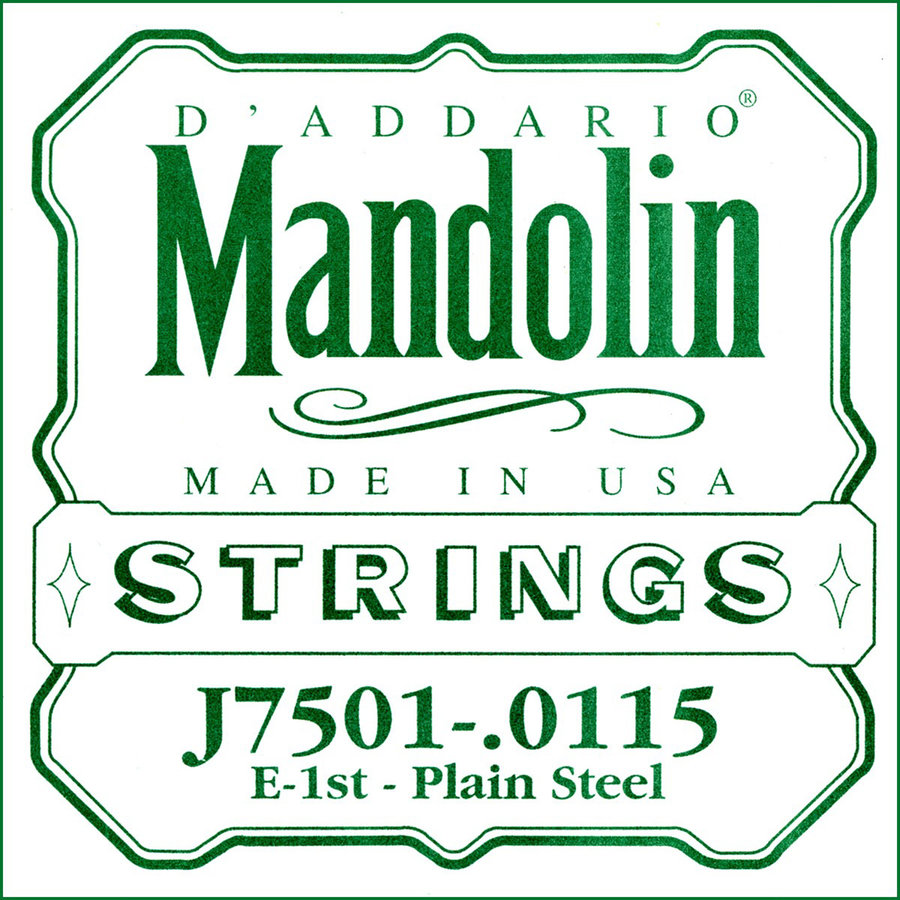 View larger image of D'Addario J7501 Plain Steel Single Mandolin String - 115