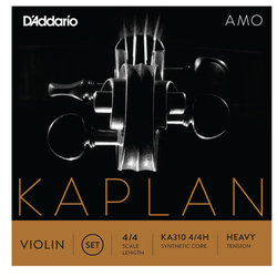 D'Addario Kaplan Amo Violin D String - 4/4 Scale, Heavy Tension