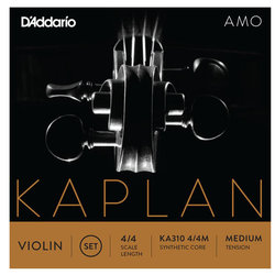 D'Addario Kaplan Amo Violin D String - 4/4 Scale, Medium Tension