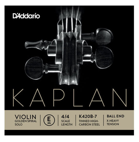 View larger image of D'Addario Kaplan Ball End Violin Single E String - 4/4 Scale, Extra-Heavy Tension