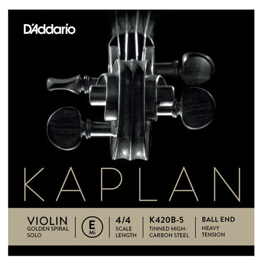 View larger image of D'Addario Kaplan Golden Spiral Solo Loop End Violin E String - 4/4 Scale, Heavy Tension