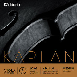 D'Addario Kaplan Single A Viola Sring - Long, Medium
