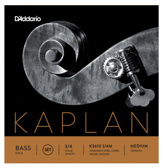 View larger image of D'Addario Kaplan Solo Double Bass D-Ext String - 3/4 Scale, Medium Tension