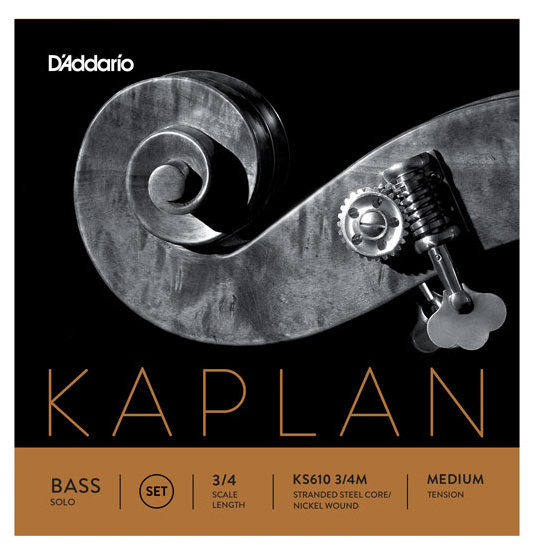 View larger image of D'Addario Kaplan Solo Double Bass String Set - 3/4 Scale, Medium Tension
