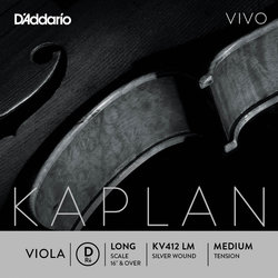 D'Addario Kaplan Vivo Single D Viola String - Long, Medium