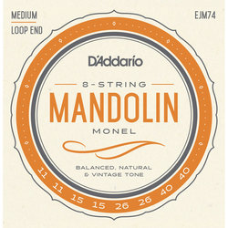 D'Addario Monel Mandolin Strings - Medium