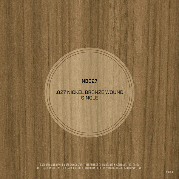 View larger image of D'Addario NB027 Nickel Bronze Wound Single Acousic Guitar String - 27