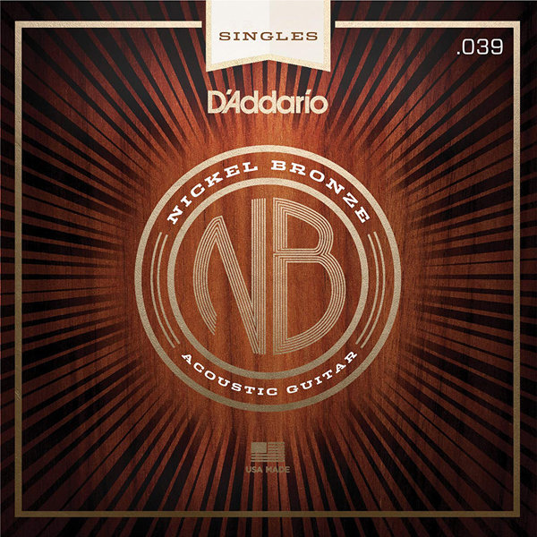 View larger image of D'Addario NB039 Nickel Bronze Wound Single Acousic Guitar String - 39