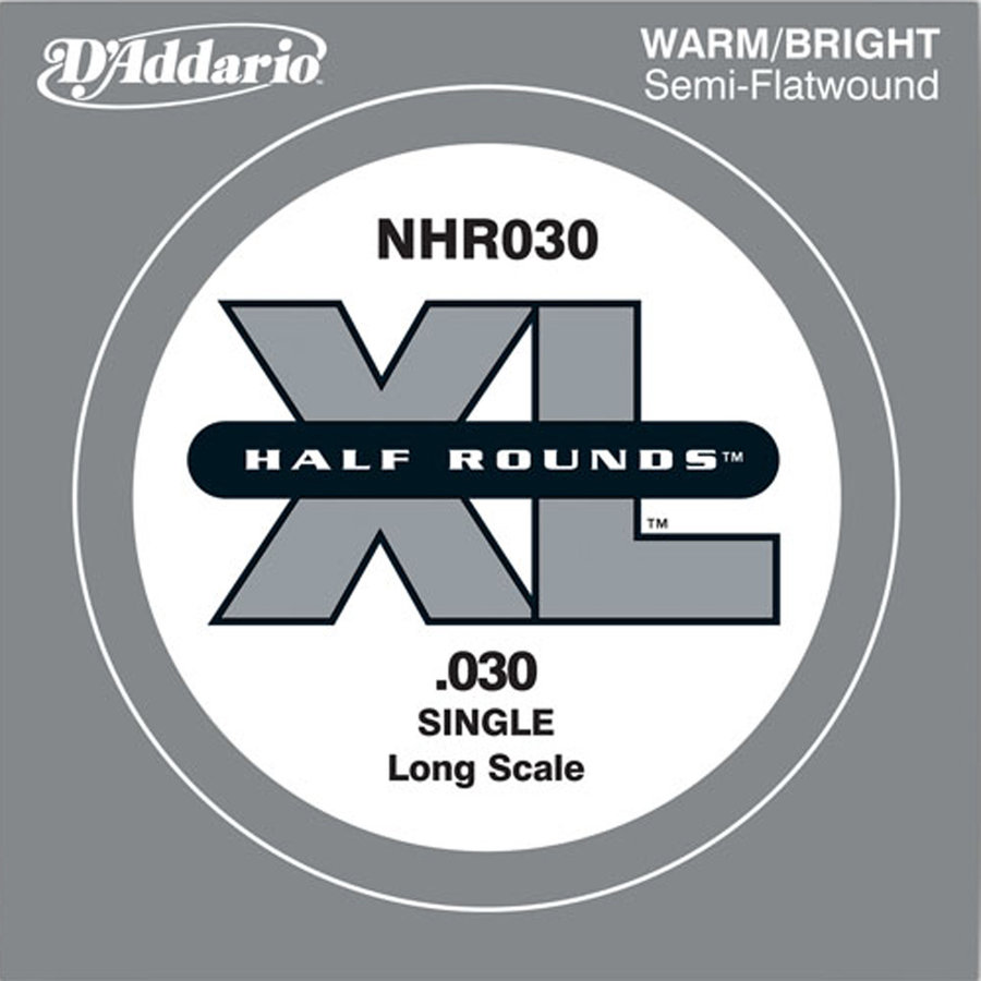 View larger image of D'Addario NHR030 Half Round Single Bass Guitar String - Long, 30