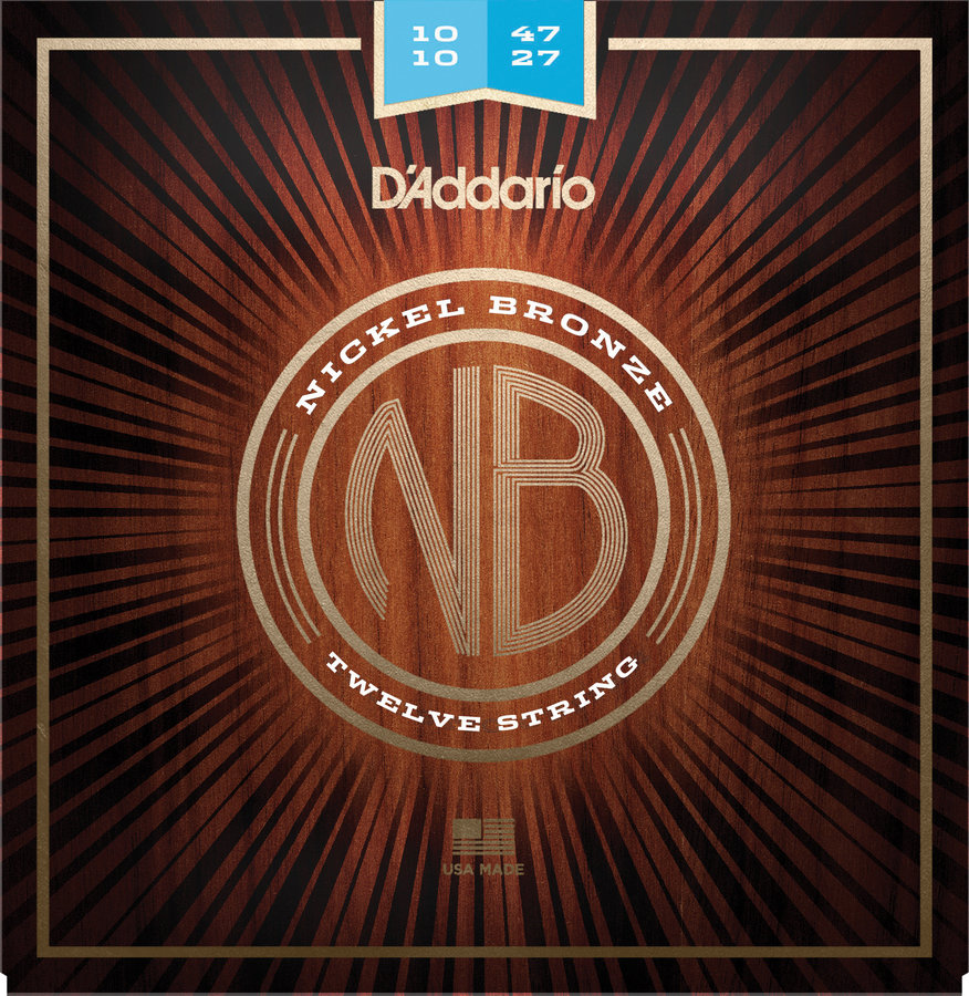 View larger image of D'Addario Nickel Bronze Acoustic Guitar Strings - Light 12-String, 10-47