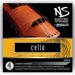 D'Addario NS Electric Cello Low F String - 4/4 Scale, Medium Tension