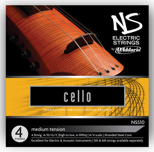 View larger image of D'Addario NS Electric Cello String Set - 4/4 Scale, Medium Tension