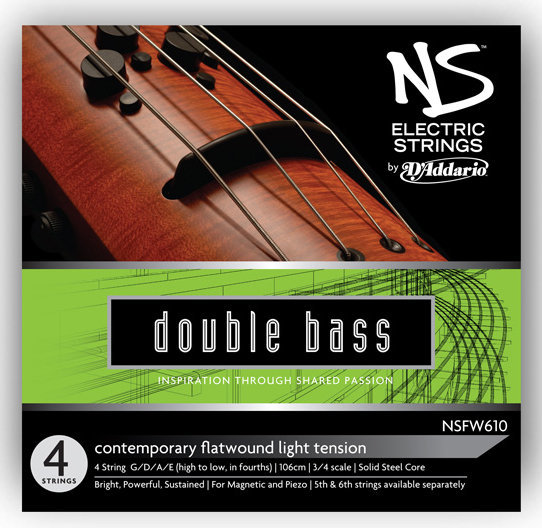 View larger image of D'Addario NS Electric Contemporary Bass String Set - 3/4 Scale, Medium Tension