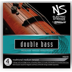 D'Addario NS Electric Traditional Bass Single D String - 3/4 Scale, Medium Tension