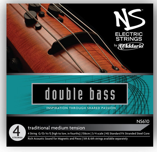 View larger image of D'Addario NS Electric Traditional Bass Single High C String - 3/4 Scale, Medium Tension