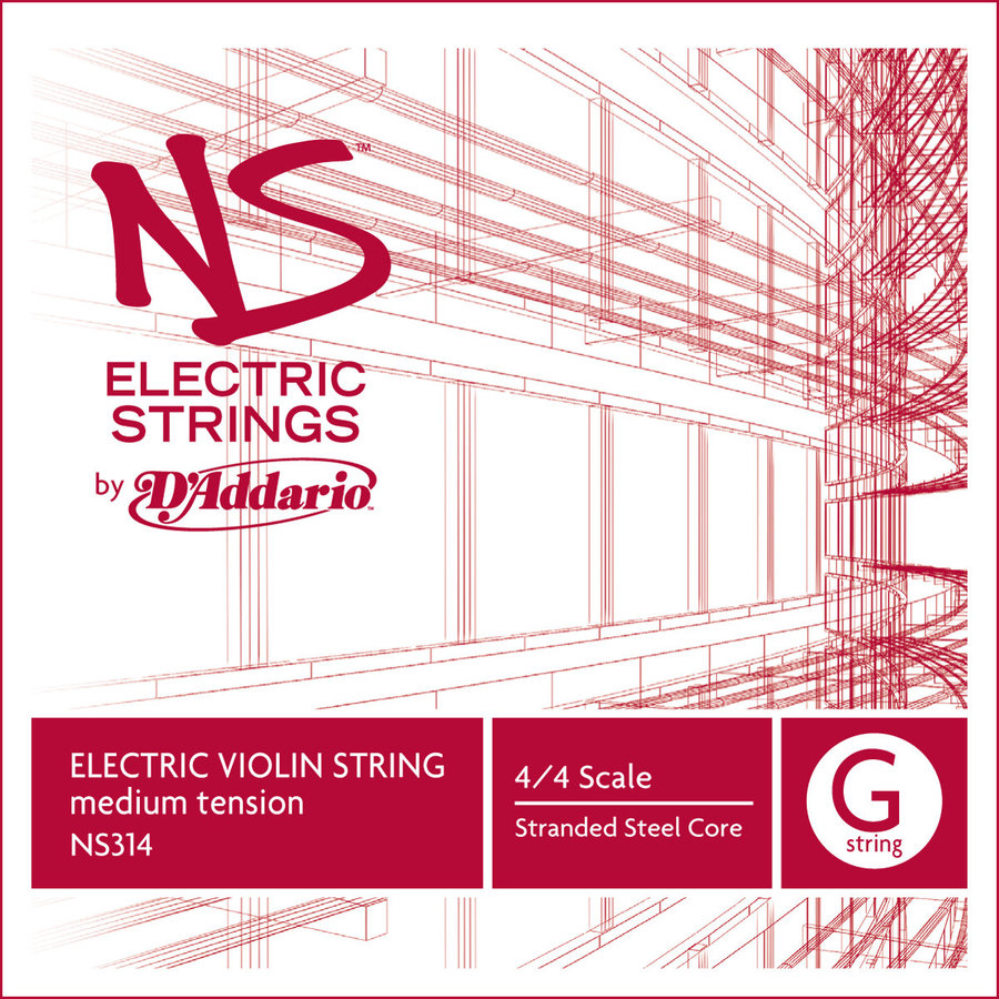 View larger image of D'Addario NS Electric Violin Single G String - 4/4 Scale, Medium Tension