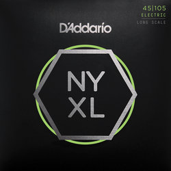 D'Addario NYXL Bass Guitar Strings - Light Top/Medium Bottom, Long Scale, 45-105
