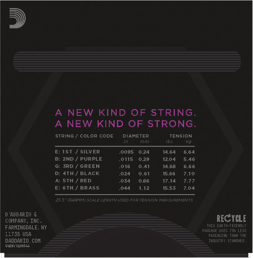 View larger image of D'Addario NYXL09544 Nickel Wound Electric Strings - Super Light Plus - 9.5-44