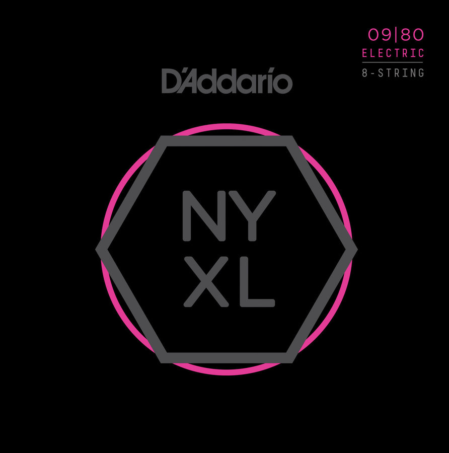 View larger image of D'Addario NYXL0980 Nickel Wound 8 String Electric Guitar Strings - Super Light - 09-80