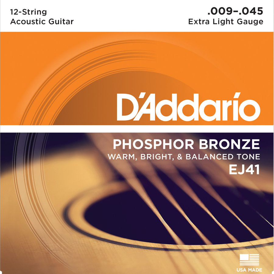 View larger image of D'Addario Phosphor Bronze 12-String Acoustic Guitar Strings - Extra Light, 9-45