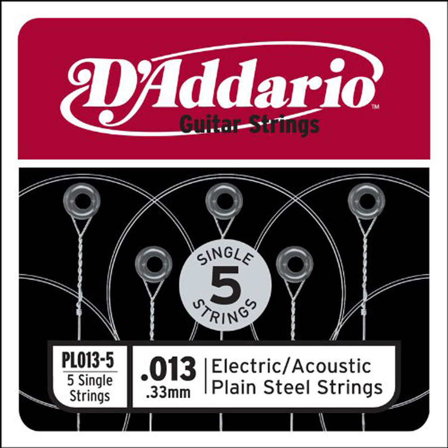 View larger image of D'Addario Plain Steel Single Guitar String - Ball End, 13