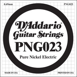 D'Addario PNG023 XL Pure Nickel Wound Electric Guitar Strings -