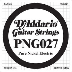 D'Addario PNG027 XL Pure Nickel Wound Electric Guitar Strings - 27