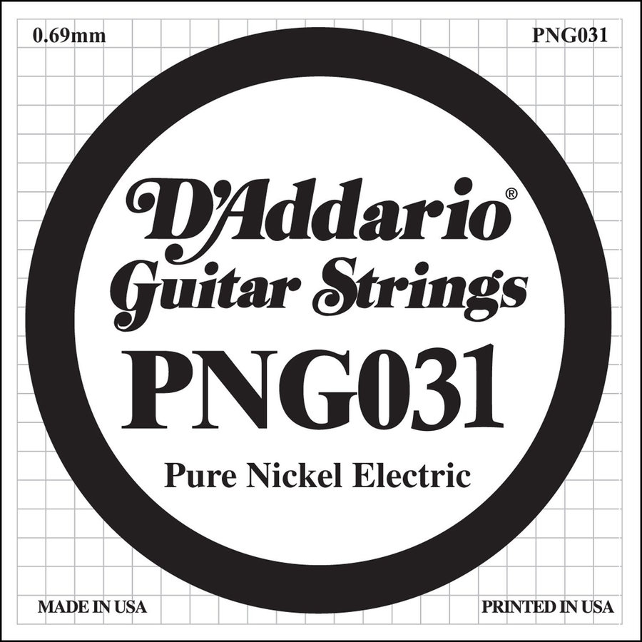 View larger image of D'Addario PNG031 XL Pure Nickel Wound Electric Guitar Strings - 31