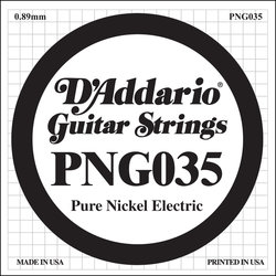 D'Addario PNG035 XL Pure Nickel Wound Electric Guitar Strings -