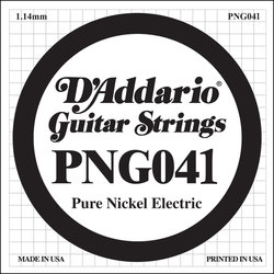 D'Addario PNG041 XL Pure Nickel Wound Electric Guitar Strings -