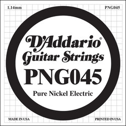 D'Addario PNG045 XL Pure Nickel Wound Electric Guitar Strings - 45