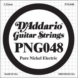 D'Addario PNG048 XL Pure Nickel Wound Electric Guitar Strings - 48