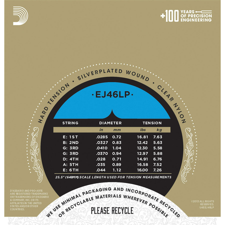 View larger image of D'Addario Pro-Arte Composite Classical Guitar Strings - Silver Plated Wrap, Hard