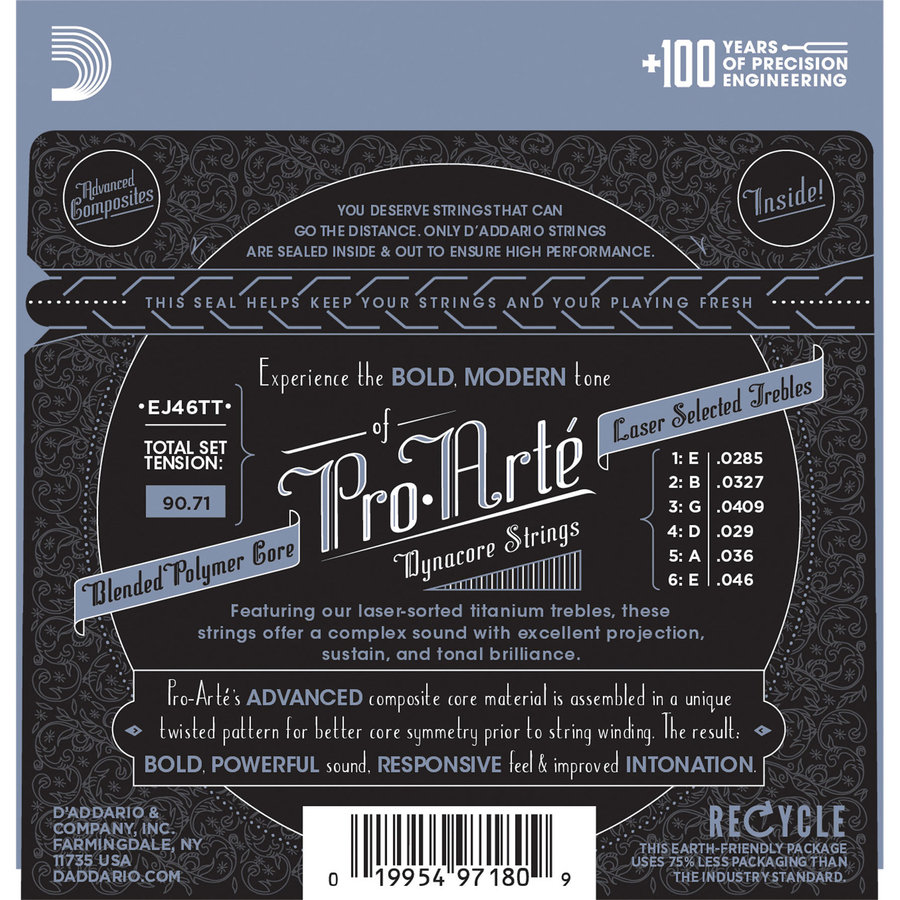 View larger image of D'Addario Pro-Arte Dynacore Classical Guitar Strings - Silver Plated Wrap, Hard