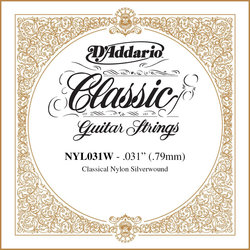 D'Addario Pro-Arte Single Classical Guitar String - Silver Wound, 31