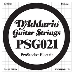 D'Addario PSG020 XL ProSteel Single Electric Guitar Strings - 21