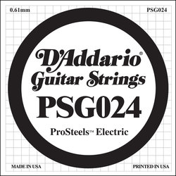D'Addario PSG024 XL ProSteel Single Electric Guitar Strings - 24