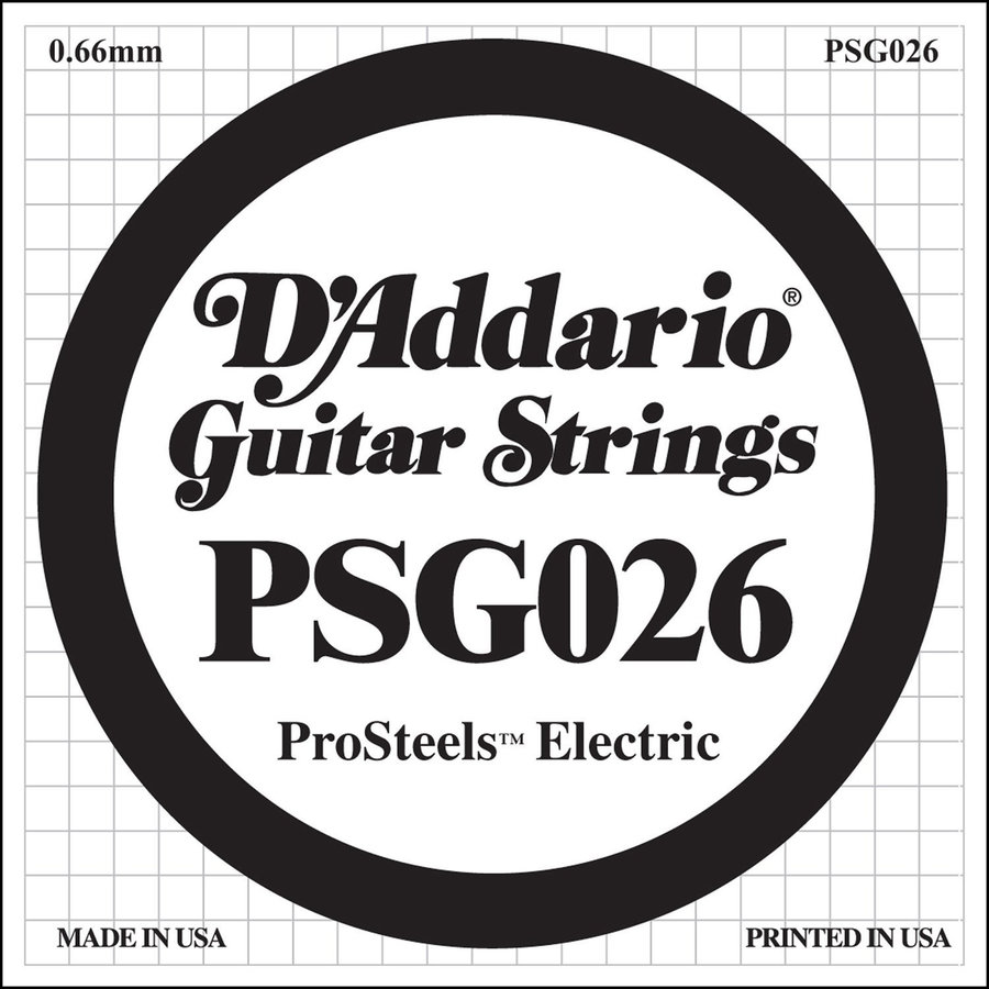 View larger image of D'Addario PSG026 XL ProSteel Single Electric Guitar Strings - 26