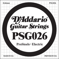 D'Addario PSG026 XL ProSteel Single Electric Guitar Strings - 26