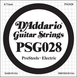 D'Addario PSG028 XL ProSteel Single Electric Guitar Strings - 28