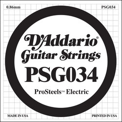D'Addario PSG034 XL ProSteel Single Electric Guitar Strings - 34