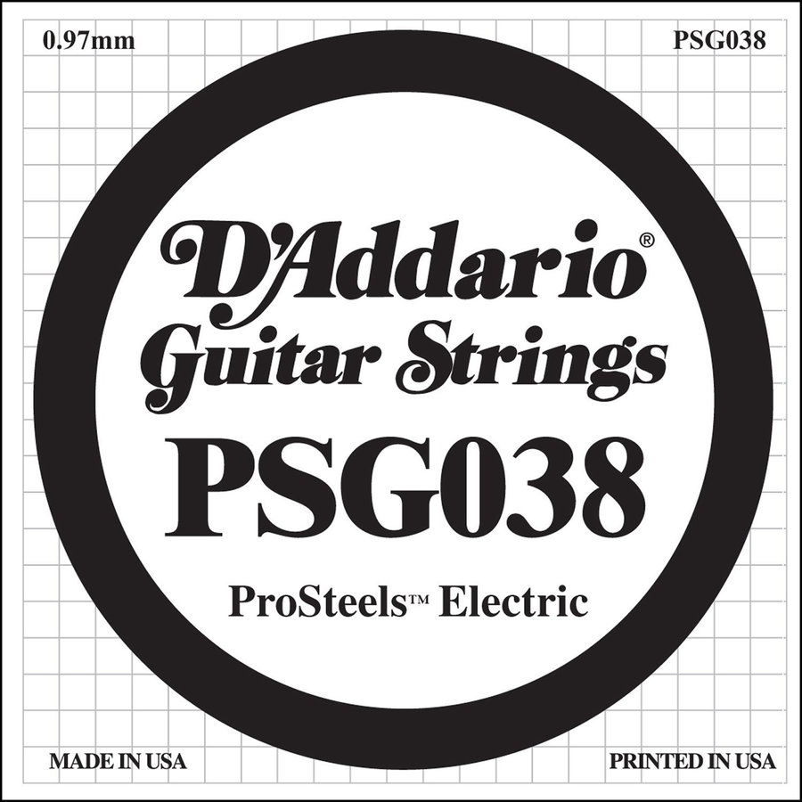 View larger image of D'Addario PSG038 XL ProSteel Single Electric Guitar Strings - 38