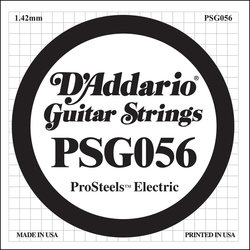 D'Addario PSG056 XL ProSteel Single Electric Guitar Strings - 56
